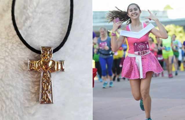 A mother lost a necklace containing the ashes of her daughter, Shaylin Foster, right, while running the Disney Princess Half Marathon in honor of the 17-year-old. (Photo: Facebook/Chasity Foster)