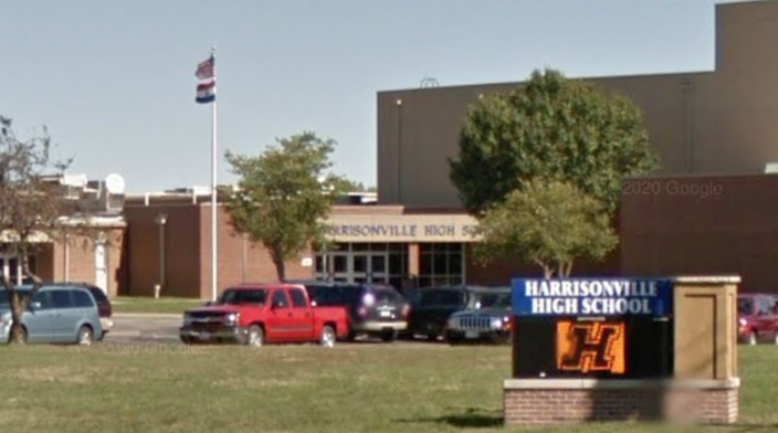 A Harrisonville teacher is under investigation after allegedly using a racist slur during a class. A Google Maps screen grab show the general area.