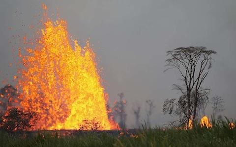 Lava 'spattering' is one of the greatest risks at the moment - Credit: Getty