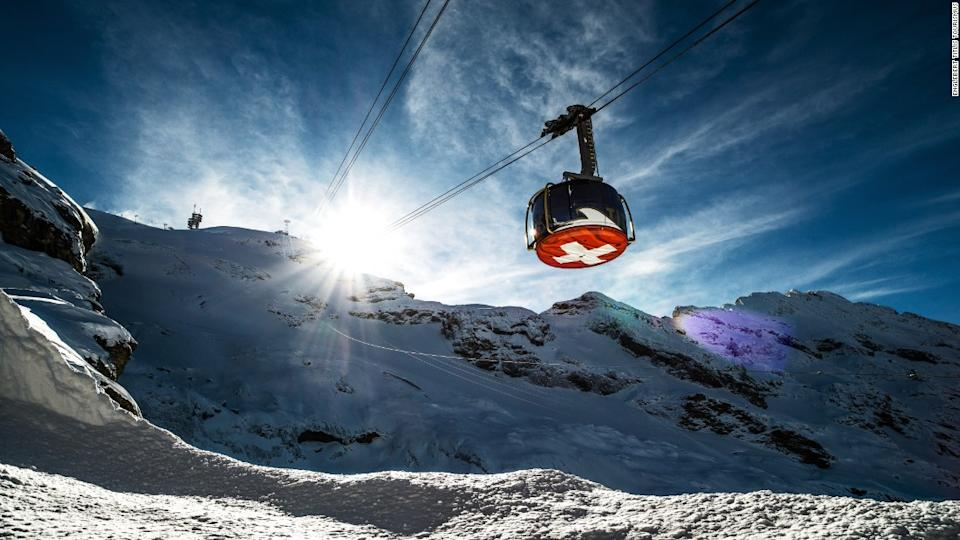 "<p>Titlis Rotair is a fully rotating gondola that takes visitors to the summit of Klein Titlis Mountain in Switzerland.</p><div class=""cnn--image__credit""><em><small>Credit: Englebert Titlis Tourismus / CNN</small></em></div>"