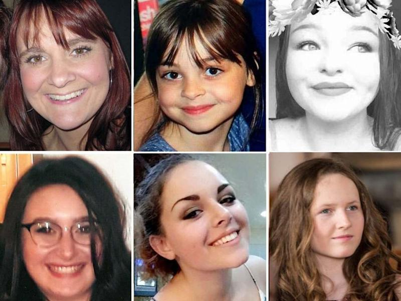 Six of the 22 victims of the Manchester Arena terror attack: (clockwise from top left) Elaine McIver, 43; Saffie Roussous, 8; Sorrell Leczkowski, 14; Megan Hurley, 15; Olivia Campbell-Hardy, 15; Nell Jones, 14PA