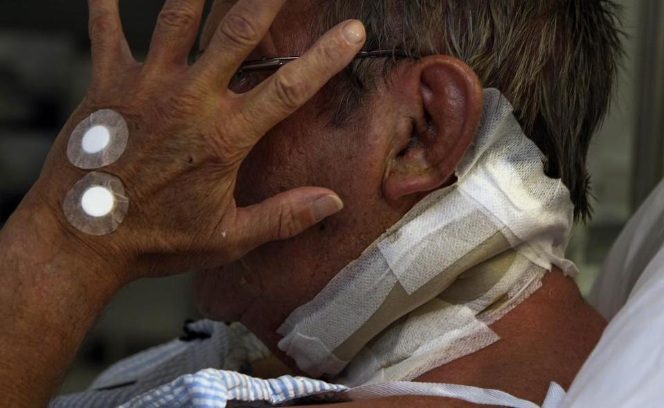 A victim of a home invasion recovers in hospital. Picture: Nic Ellis/The West Australian