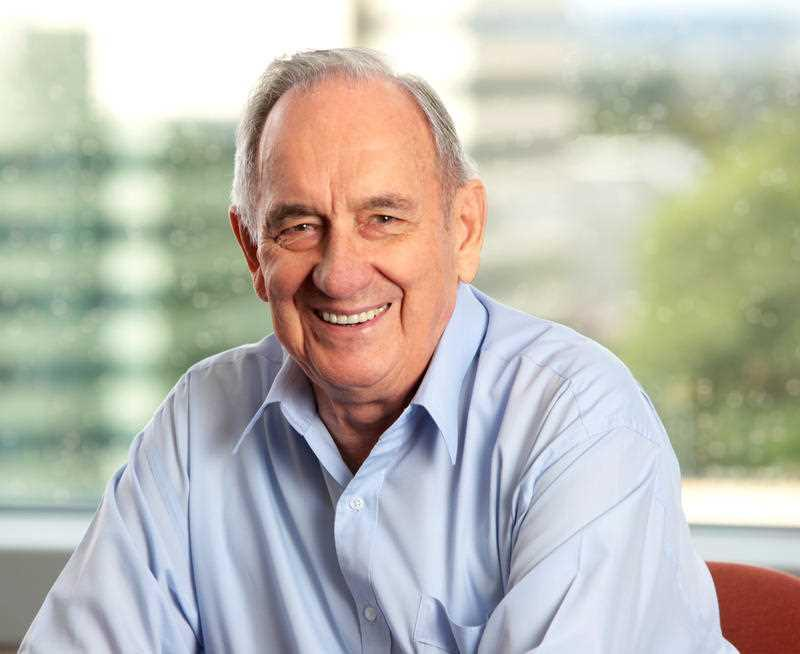 Philanthropist Bob Ingham AO is pictured.