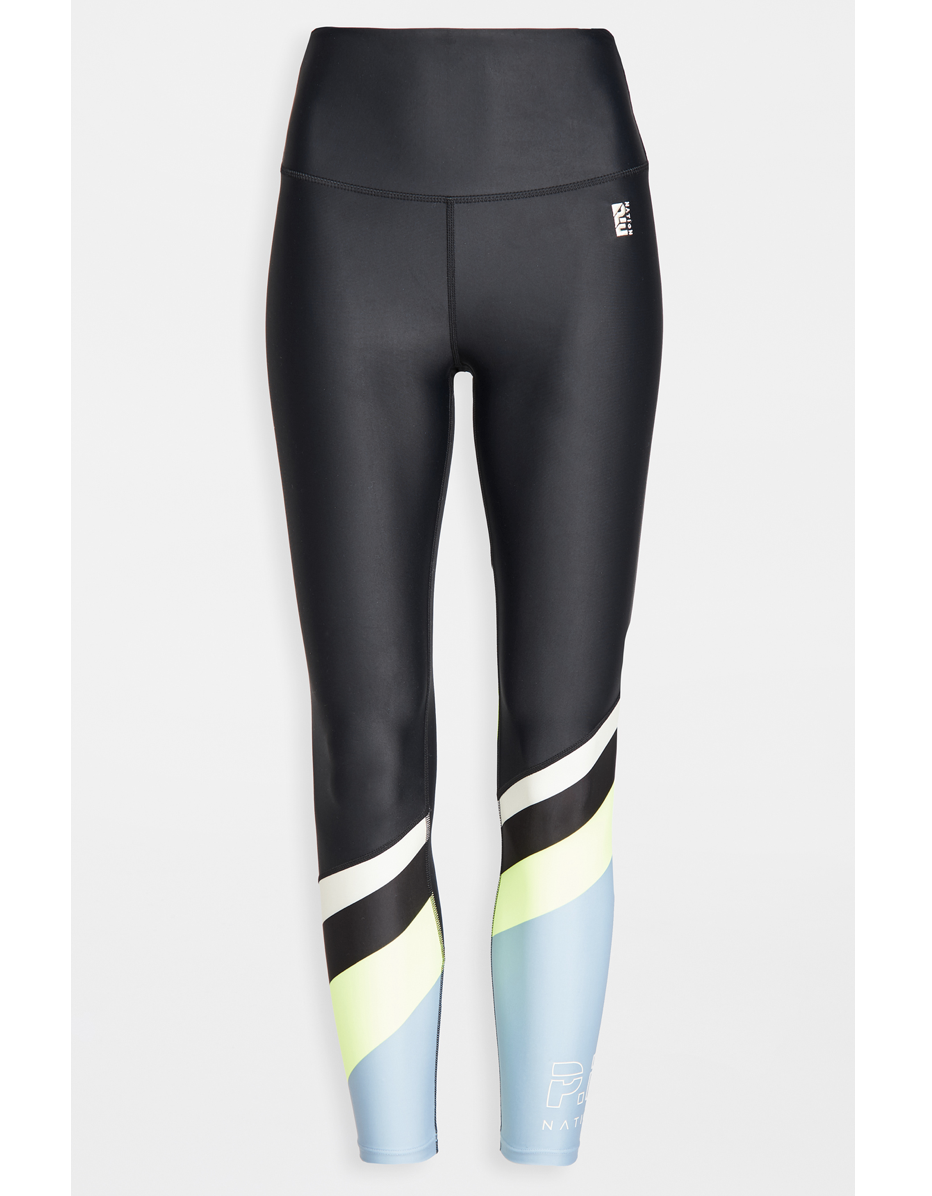 """ICYMI, P.E Nation designs some of the most hard-working leggings around. We're partial to this shiny pair with reflective detailing, which you can suit up in for for anything from strength training and HIIT to pilates, cardio, or barre. This particular model is also eco-friendly, incorporating recycled materials like post-consumer PET bottles and regenerated nylon. $100, Shopbop. <a href=""""https://www.shopbop.com/first-position-legging-pe-nation/vp/v=1/1567541832.htm"""" rel=""""nofollow noopener"""" target=""""_blank"""" data-ylk=""""slk:Get it now!"""" class=""""link rapid-noclick-resp"""">Get it now!</a>"""
