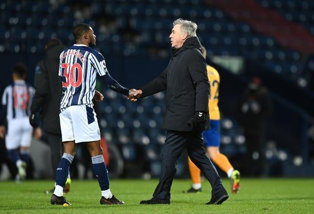 Carlo Ancelotti after the win at West Brom