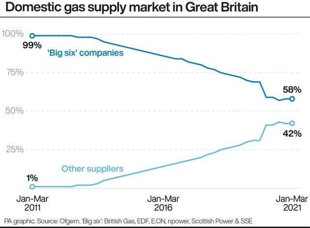 Domestic gas supply market in Great Britain