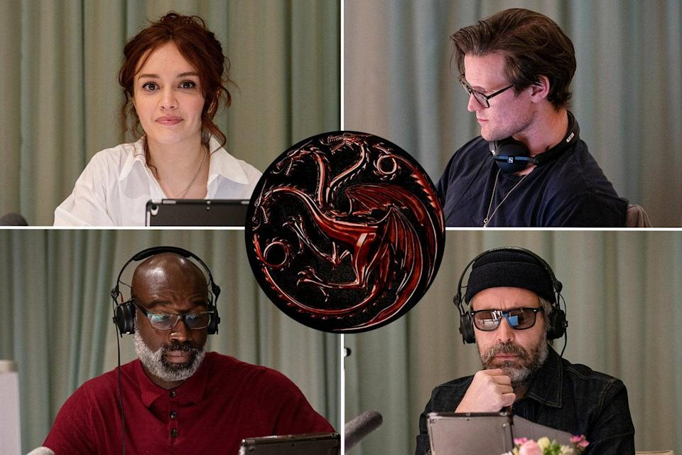 <p>The stars of House of The Dragon in a table read</p> (HBO)