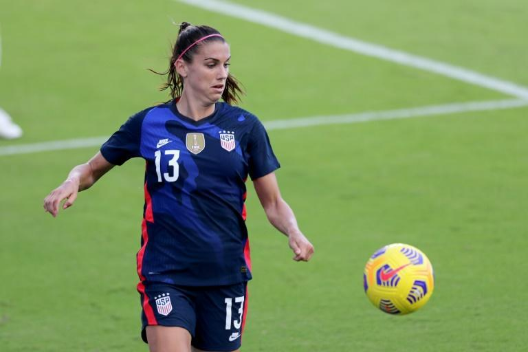 'Bottom line: protect your players,' tweeted US soccer star Alex Morgan (AFP/Alex Menendez)