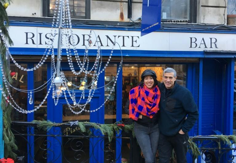 "Pisticci restaurant and bar owner Vivian Forte, pictured with her husband and co-owner Michael Forte, describes New York's local pandemic rules as ""persecution"""