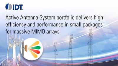 IDT's Active Antenna System portfolio delivers high efficiency and performance in small packages for massive MIMO arrays
