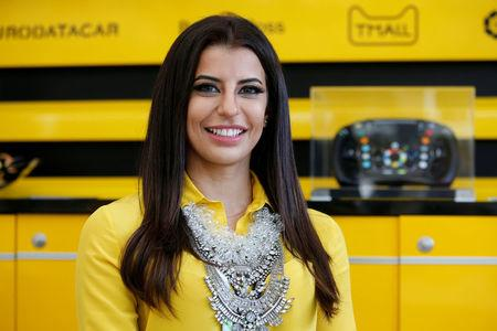 Formula One F1 - French Grand Prix - Circuit Paul Ricard, Le Castellet, France - June 24, 2018   Aseel Al-Hamad of Saudia Arabia poses for a photo before driving a Lotus Renault E20 Formula One car during a parade before the race   REUTERS/Jean-Paul Pelissier