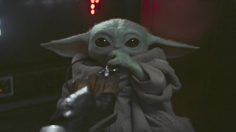Baby Yoda, aka The Child, in 'The Mandalorian'. (Credit: Disney+)