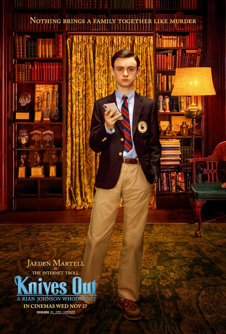 """It: Chapter Two star Jaeden Martell as """"internet troll"""" Jacob Thrombey."""