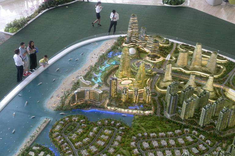 The Forest City development has been aimed at mainland Chinese investors as an alternative to pricier property in Singapore, with reports saying Chinese buyers have snapped up about two-thirds of units already sold before construction is finished