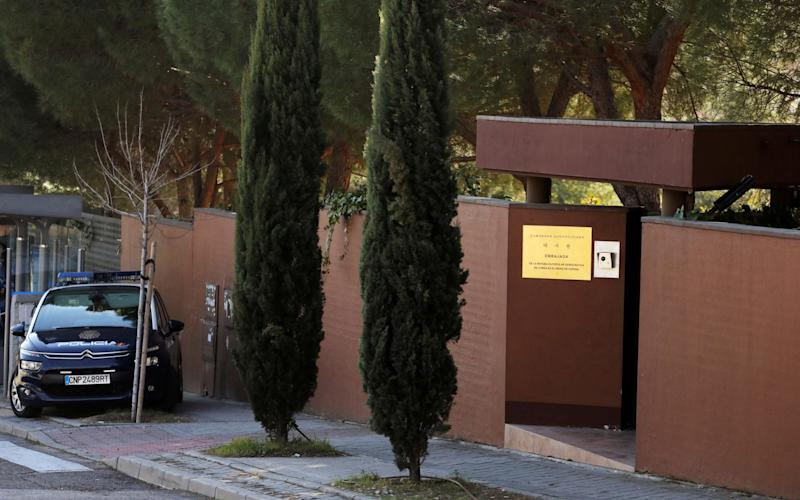 North Korea's embassy in Madrid was raided in February - REUTERS