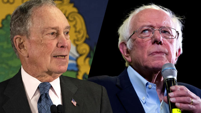 Michael Bloomberg and Bernie Sanders. (David J. Phillip/AP, Jason Connolly/AFP via Getty Images)