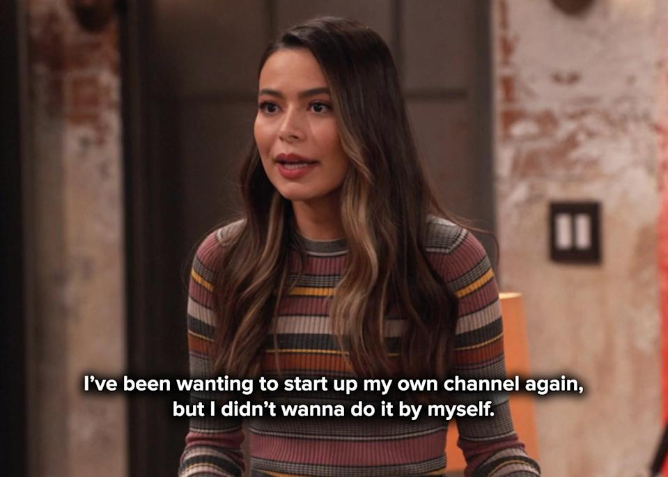 Carly didn't want to start a new channel by herself