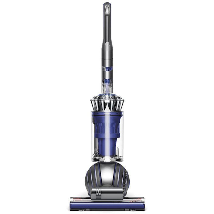 """Engineered for a home with pets, this upright vacuum uses ball technology to navigate tricky floor plans, has a counter-rotating brush head to tackle hair from carpets and upholstery without leaving a hard-to-remove wrap-around behind, and has all the tools you need for the same versatility as the cordless options. Say goodbye to dust, animal hair, and ground-in dirt. $599, Dyson. <a href=""""https://www.dyson.com/vacuum-cleaners/uprights/dyson-ball-animal-2-upright/dyson-ball-animal-2-total-clean"""" rel=""""nofollow noopener"""" target=""""_blank"""" data-ylk=""""slk:Get it now!"""" class=""""link rapid-noclick-resp"""">Get it now!</a>"""