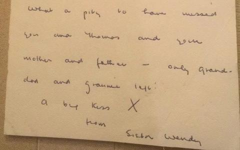 A letter Sister Wendy wrote to Rosie in 1980 - Credit: Rosie Nixon