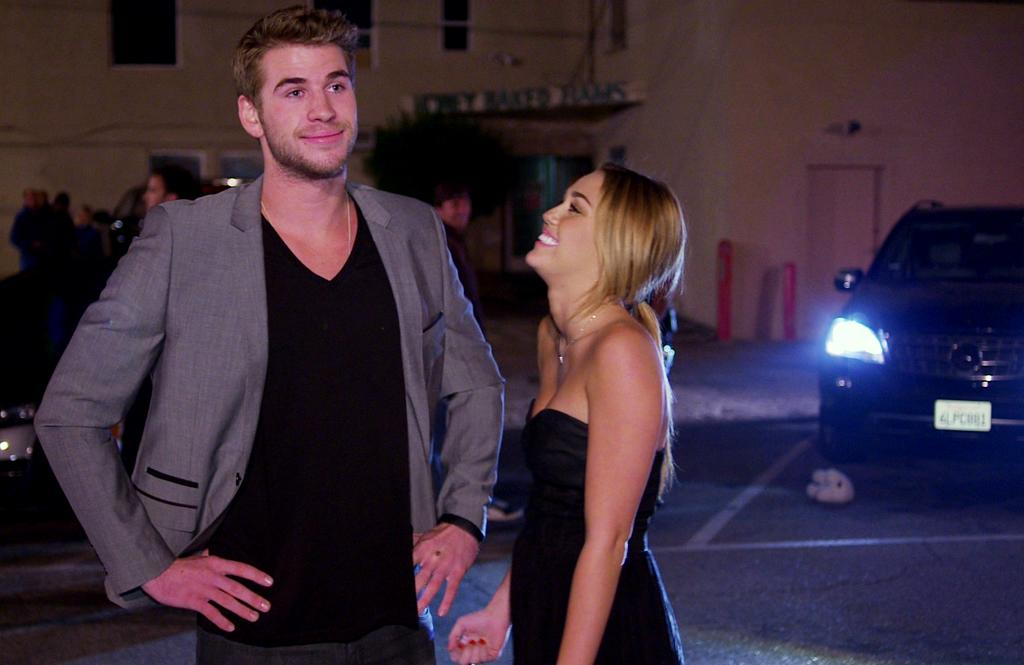 "Miley Cyrus punks Liam Hemsworth in ""Punk'd."""