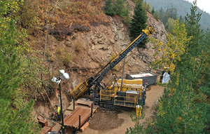 Surface Diamond Drill Rig at Bunker Hill Mine