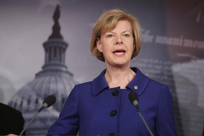"Baldwin was the <a href=""http://www.cnn.com/2012/11/07/politics/wisconsin-tammy-baldwin-senate/"" rel=""nofollow noopener"" target=""_blank"" data-ylk=""slk:first openly gay person"" class=""link rapid-noclick-resp"">first openly gay person</a> elected to the Senate and has emerged as one of the upper chamber's leading proponents of LGBT rights. In 2013, Baldwin lobbied her Republican colleagues to support the <a href=""http://www.huffingtonpost.com/2013/06/27/tammy-baldwin-enda_n_3512063.html"" rel=""nofollow noopener"" target=""_blank"" data-ylk=""slk:Employment Non-Discrimination Act"" class=""link rapid-noclick-resp"">Employment Non-Discrimination Act</a>, which would prevent employers from discriminating against workers because of their sexual orientation or gender identity. That same year, she <a href=""http://www.huffingtonpost.com/2013/09/19/gay-federal-employees_n_3951622.html"" rel=""nofollow noopener"" target=""_blank"" data-ylk=""slk:co-sponsored"" class=""link rapid-noclick-resp"">co-sponsored</a> a bill to ensure the same-sex partners of federal workers received equal benefits to heterosexual partners. And in 2014, she pressed the federal government to <a href=""http://www.huffingtonpost.com/2014/12/16/gay-blood-ban_n_6333398.html"" rel=""nofollow noopener"" target=""_blank"" data-ylk=""slk:end its ban"" class=""link rapid-noclick-resp"">end its ban</a> on gay men donating blood."