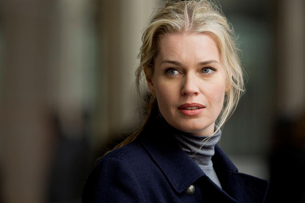 "Rebecca Romijn as Michelle Maxwell in the series premiere of TNT's ""King & Maxwell."""