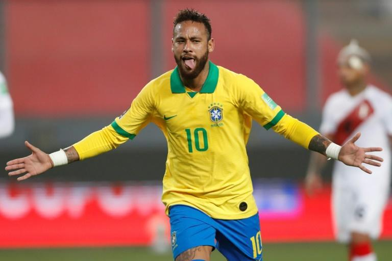 Neymar scored a hat-trick in Brazil's last match, a 4-2 win in Peru