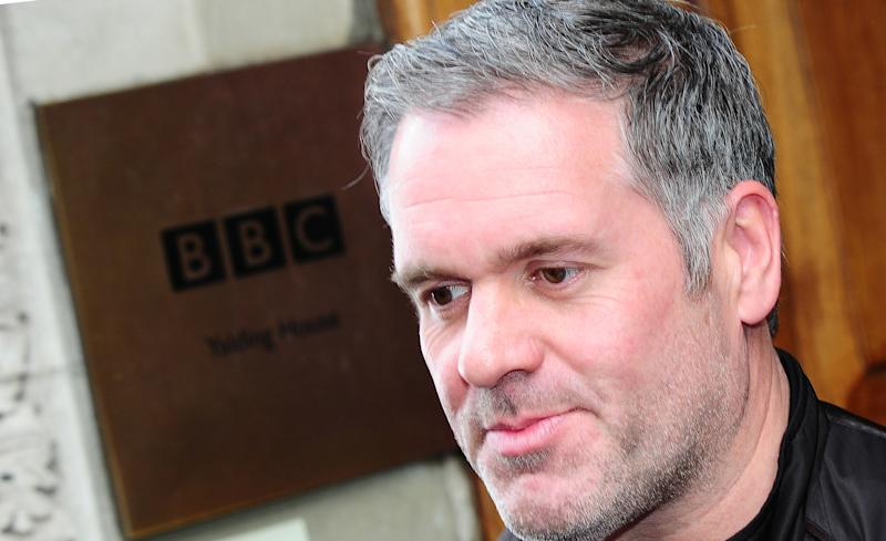 Chris Moyles leaves Radio 1 after his final breakfast show in London.