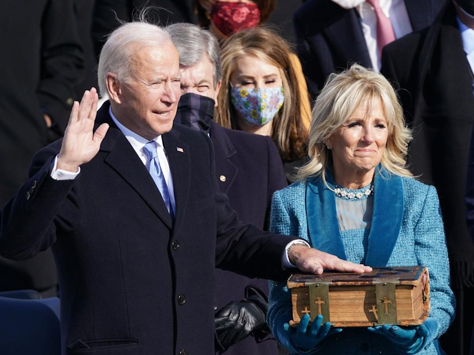 <p>Joe Biden is sworn in as the 46th President of the United States </p> (REUTERS)