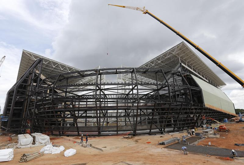WCup officials in Cuiaba say stadium will be ready