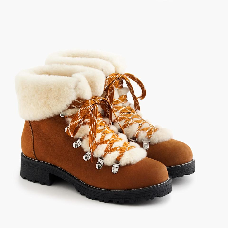 A photo of boots from J. Crew.