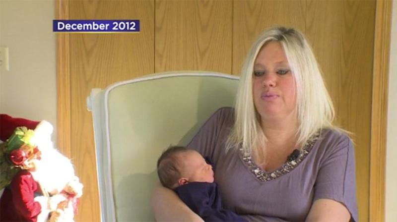 Tammy Van Dyke is suing the hospital where she gave birth after another woman was given her baby to breastfeed. Photo: CBS News