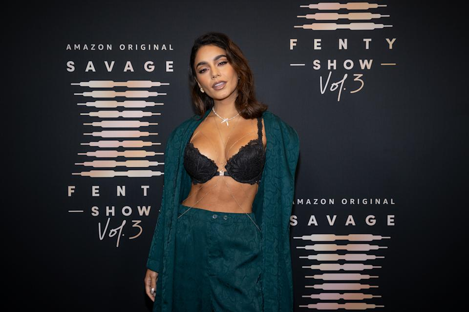 LOS ANGELES, CALIFORNIA - SEPTEMBER 22: In this image released on September 22, Vanessa Hudgens attends Rihanna's Savage X Fenty Show Vol. 3 presented by Amazon Prime Video at The Westin Bonaventure Hotel & Suites in Los Angeles, California; and broadcast on September 24, 2021. (Photo by Emma McIntyre/Getty Images for Rihanna's Savage X Fenty Show Vol. 3 Presented by Amazon Prime Video)