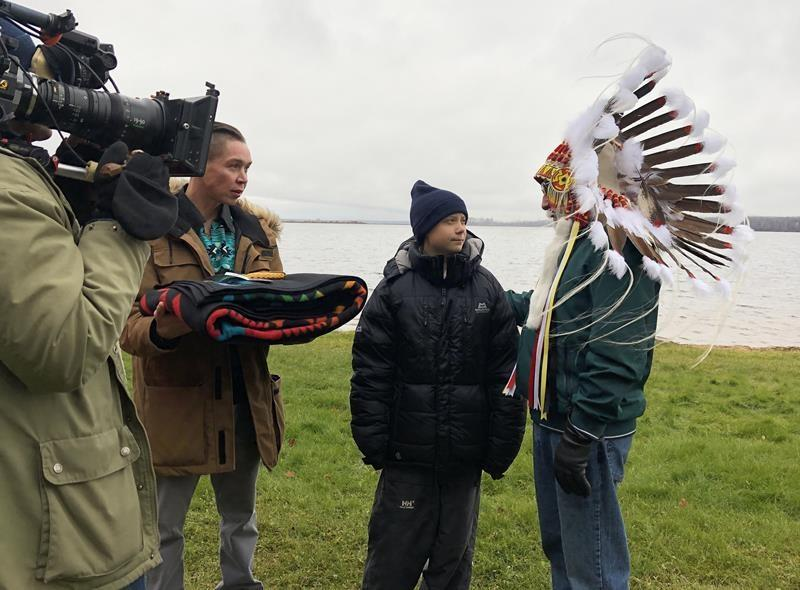 Thunberg interviews leaders for documentary, Alberta Indigenous group says