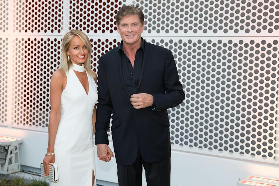David Hasselhoff and his longtime girlfriend Hayley Roberts, pictured together in 2016, have tied the knot in Italy. (Photo: Getty Images)