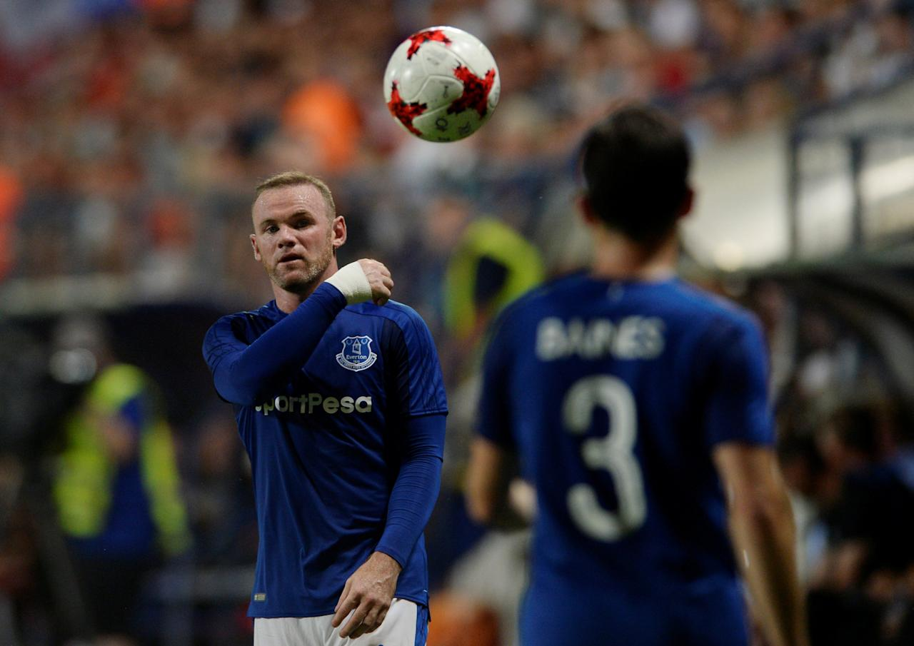 Soccer Football - Europa League - MFK Ruzomberok vs Everton - Third Qualifying Round Second Leg - Ruzomberok, Slovakia - August 3, 2017     Everton's Wayne Rooney       Action Images via Reuters/Adam Holt  optaID:6gr5hvcsol3jxini0nx0zdox6