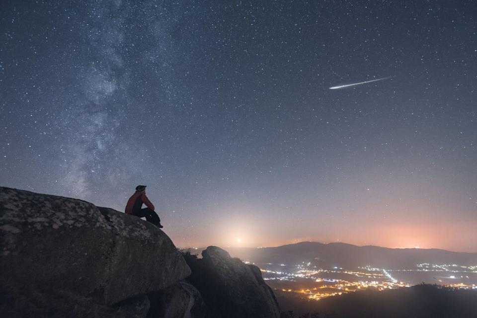 """<p>Wishing on shooting stars goes back way further than B.o.B. The 1st-century (yes, 1st) philosopher Ptolemy <a href=""""https://blogs.loc.gov/inside_adams/2012/12/wishing-upon-the-shooting-stars-the-geminid-meteor-shower/"""" rel=""""nofollow noopener"""" target=""""_blank"""" data-ylk=""""slk:believed that"""" class=""""link rapid-noclick-resp"""">believed that</a> when meteors occurred, it meant that the gods were looking down and paying attention to Earth—and thus available to be pelted with wishes.</p>"""