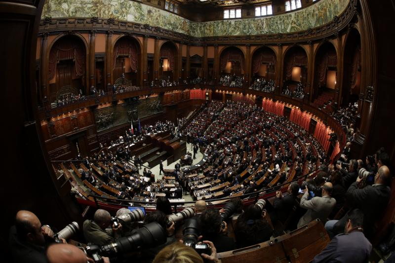 Italy's Parliament convenes, faces stalemate