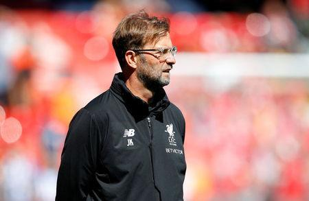 Soccer Football - Premier League - Liverpool vs Brighton & Hove Albion - Anfield, Liverpool, Britain - May 13, 2018 Liverpool manager Juergen Klopp REUTERS/Phil Noble