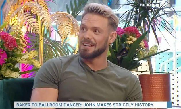 John Whaite speaking to Steph McGovern ahead of his Strictly debut (Photo: Channel 4)