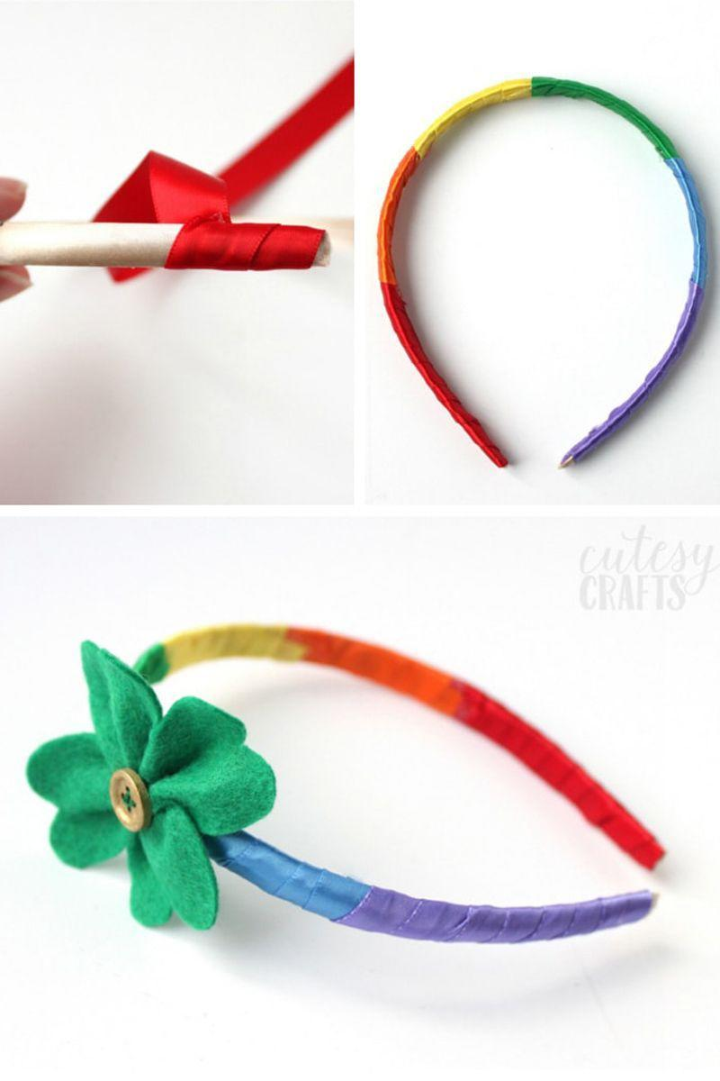 """<p>Turn her headband into a party-ready look with rainbow-colored ribbon and a sweet shamrock accent. </p><p><em><a href=""""https://cutesycrafts.com/2017/02/st-patricks-day-craft-rainbow-headband.html"""" rel=""""nofollow noopener"""" target=""""_blank"""" data-ylk=""""slk:Get the tutorial at Cutesy Crafts »"""" class=""""link rapid-noclick-resp"""">Get the tutorial at Cutesy Crafts »</a></em></p>"""