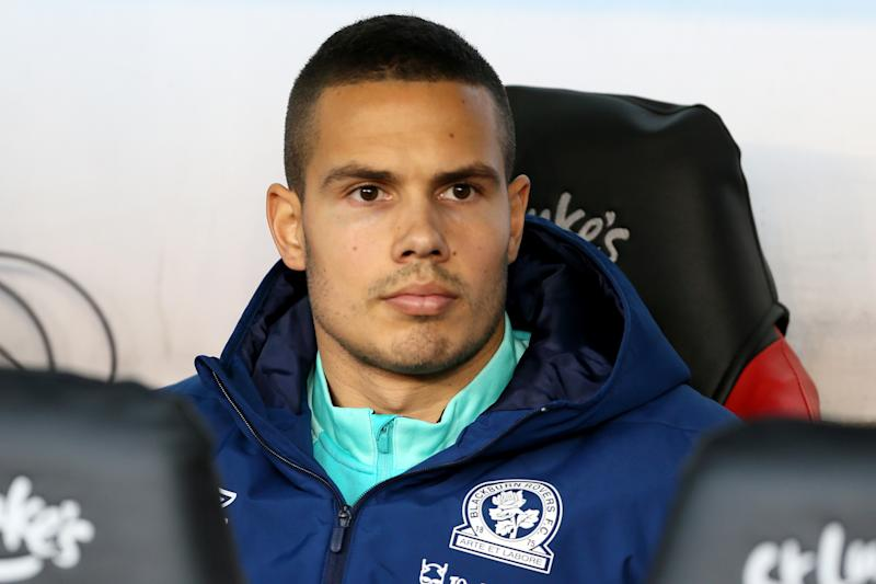 Blackburn Rovers' Jack Rodwell on the bench