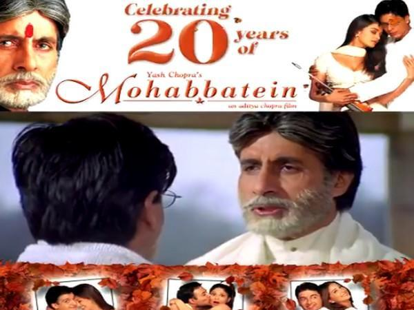 A still from the video reel celebrating 20 years of 'Mohabbatein' (Image Source: Twitter)