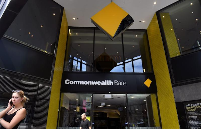 Commonwealth Bank employees protest against using leave as a KPI. Source: Getty