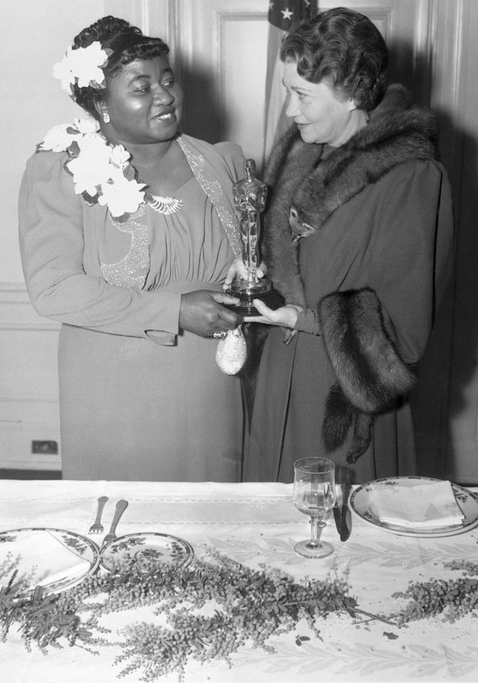 It took over a decade into Oscar history for the first black actress to win a trophy. The honor went to Hattie McDaniel for her role as Mammy in <em>Gone with the Wind</em>. However, the win wasn't all progress: In 1940, with segregation still intact, McDaniel wasn't allowed to sit beside the rest of the film's cast, and was made to sit at the back of the venue.