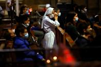 The tensions did not prevent France's Catholics going to church to celebrate the All Saints holiday