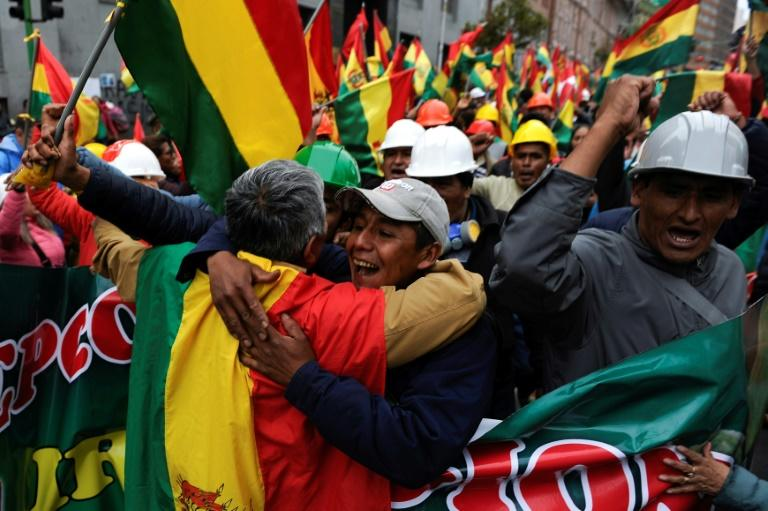 The streets of La Paz immediately exploded in celebration following the resignation of Bolivian President Evo Morales