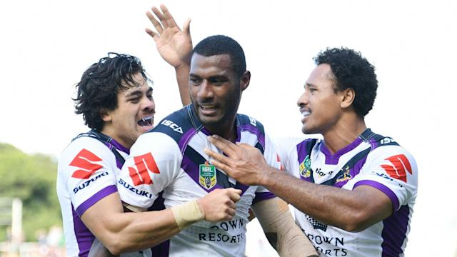 St George Illawarra Dragons top the NRL on points difference after they beat North Queensland Cowboys following Melbourne Storm's win.