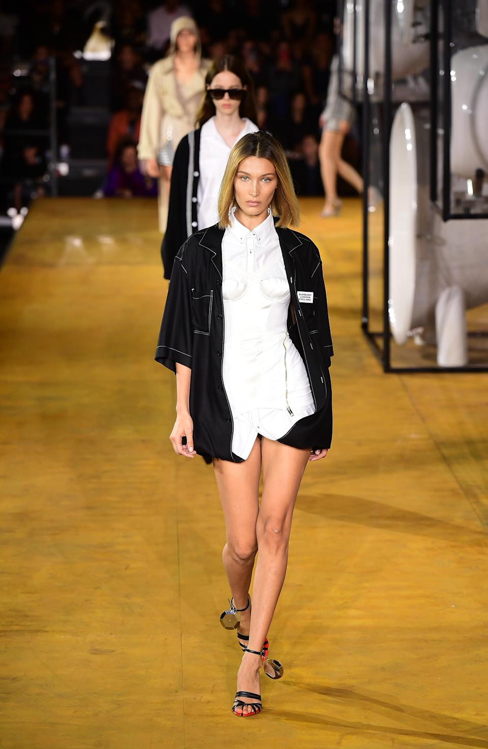 Bella Hadid joined her sister on the catwalk. [Photo: PA]